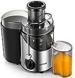 AIICOOK Licuadoras para Verduras y Frutas, 3 Velocidades Profesional Licuadoras para Zumos, Procese Frutas y Verduras rápidamente, 18000 RPM Extractor de Jugos Libre de BPA